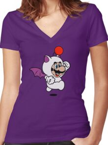 Moogle Suit Women's Fitted V-Neck T-Shirt