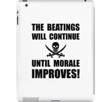 Beatings Morale Improve iPad Case/Skin