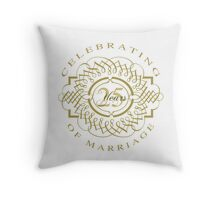 25th Wedding Anniversary Throw Pillow