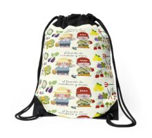 Working On The Vegetable Garden Drawstring Bag