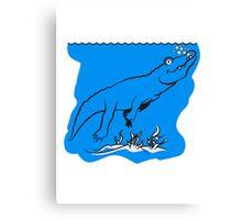 Crocodile diving water fun Canvas Print