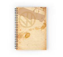 T5 Stained book Spiral Notebook