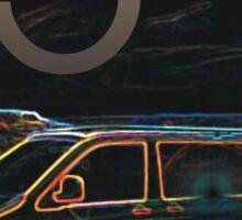 Glowing T5 Transporter vw camper Sticker
