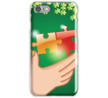 Hands and puzzle Business concept iPhone Case/Skin