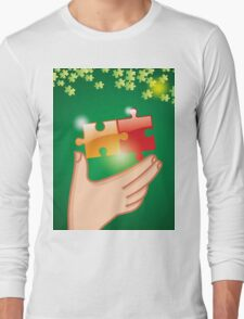 Hands and puzzle Business concept Long Sleeve T-Shirt