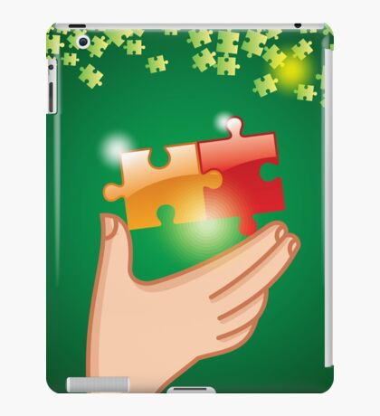 Hands and puzzle Business concept iPad Case/Skin