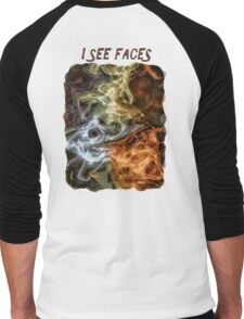 I See Faces Special Edition Men's Baseball ¾ T-Shirt