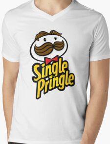 Single Pringle [Pringles Parody] Mens V-Neck T-Shirt