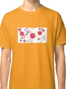 Floral Spray Pink Classic T-Shirt