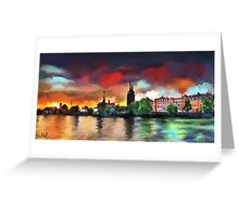 Colorful Town Greeting Card