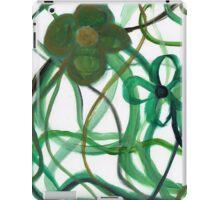 Green Intertwining Flowers Painting iPad Case/Skin