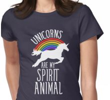Unicorns are my spirit animal  Womens Fitted T-Shirt