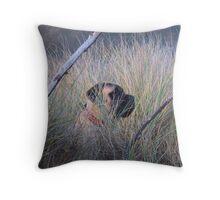 The Mastiff Hunter Throw Pillow