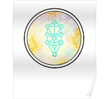 Kabbalah/ Tree of life with Flower of life- Space edition  Poster