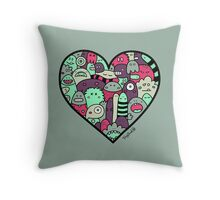 Ghosts of Valentine's Day Throw Pillow