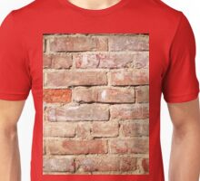 Weathered stained old brick wall  Unisex T-Shirt