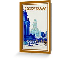 Vintage retro Berlin Germany travel ad Greeting Card