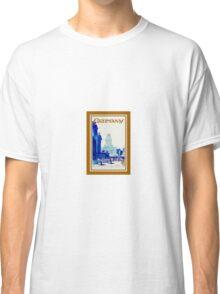 Vintage retro Berlin Germany travel ad Classic T-Shirt