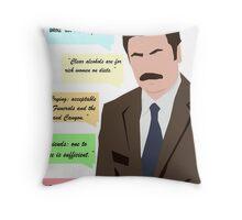 Minimalist Swanson Throw Pillow