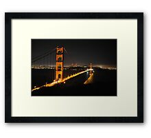 Golden Night Framed Print
