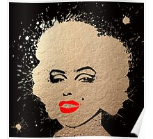 Marylin Monroe GOLD Poster
