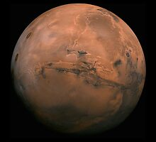 Huge Picture of Mars - Valles Marineris by TexasBarFight