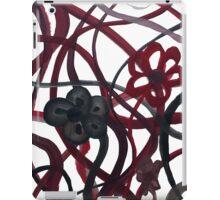 Red Black Intertwining Flowers iPad Case/Skin