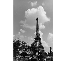 Vintage Black and White Eiffel Tower Photographic Print