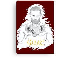Conor McGregor G.O.A.T (maroon) Canvas Print