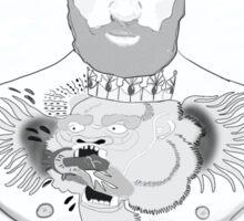 Conor McGregor G.O.A.T (maroon) Sticker