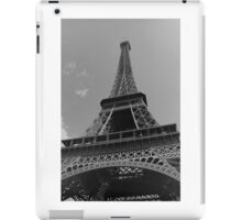 Black and White Eiffel Tower iPad Case/Skin