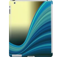 Colorful smooth twist light blue background iPad Case/Skin