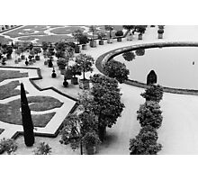 Versailles Gardens in Black and White Photographic Print