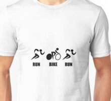 Duathlon Run Bike Run Unisex T-Shirt