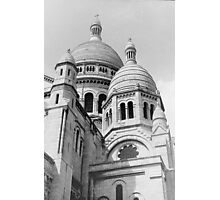 Sacre Coeur Black and White Photographic Print