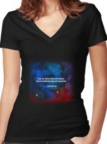 How do people ever get bored? How did boredom even get invented? Women's Fitted V-Neck T-Shirt