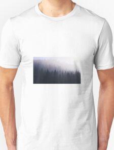 Hipster Indie Foggy Forrest Landscape Photography T-Shirt