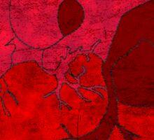 Human heart. Sticker