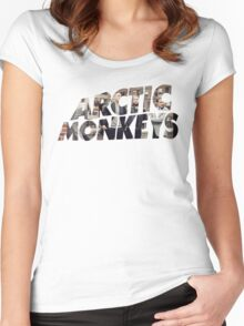 Arctic Monkeys - Logo (Alternative)  Women's Fitted Scoop T-Shirt