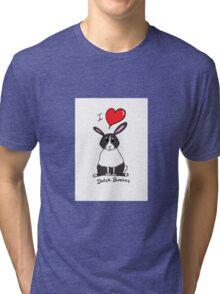 I love Dutch bunnies chubby bunny design Tri-blend T-Shirt