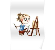 Artist at work Poster
