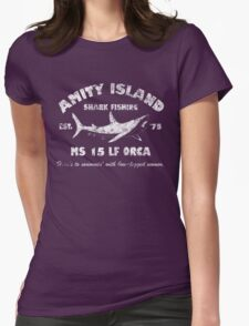 Amity Island Shark Fishing Est - 1975 Womens Fitted T-Shirt
