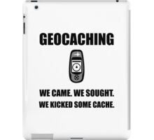 Geocaching Kicked Cache iPad Case/Skin