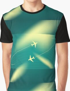 Background of flying planes Graphic T-Shirt