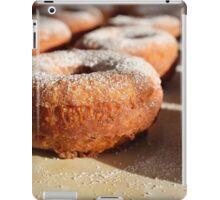 Homemade donuts with sweet powder sugar iPad Case/Skin