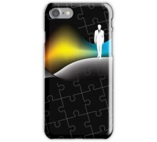 man with puzzle background iPhone Case/Skin