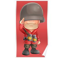 Chibi RED Soldier Poster