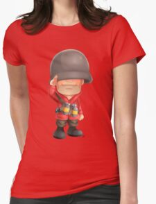 Chibi RED Soldier Womens Fitted T-Shirt