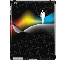 man with puzzle background iPad Case/Skin