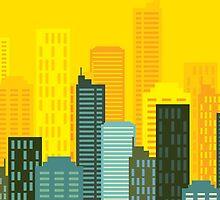 city skyline buildings vector by artgrpx
